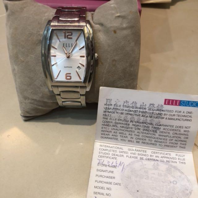 ELEL品牌專櫃手錶 約17公分長,會附上剪下來的錶帶  9.5成新錶面完全沒刮痕  自換電池
