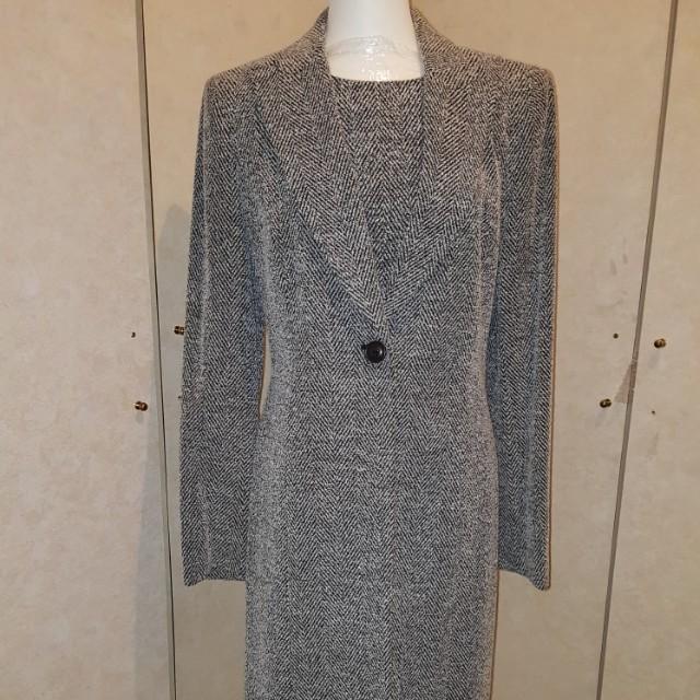 EPISODE studio黑白斜紋2件式毛料洋套裝