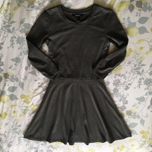 Forever21 grey skater dress (Size S)