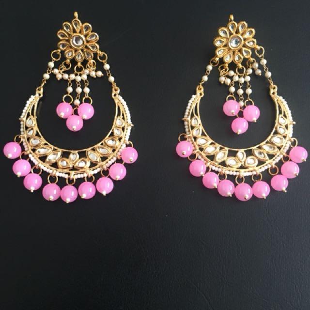 Gorgeous Pink Pearl Earrings