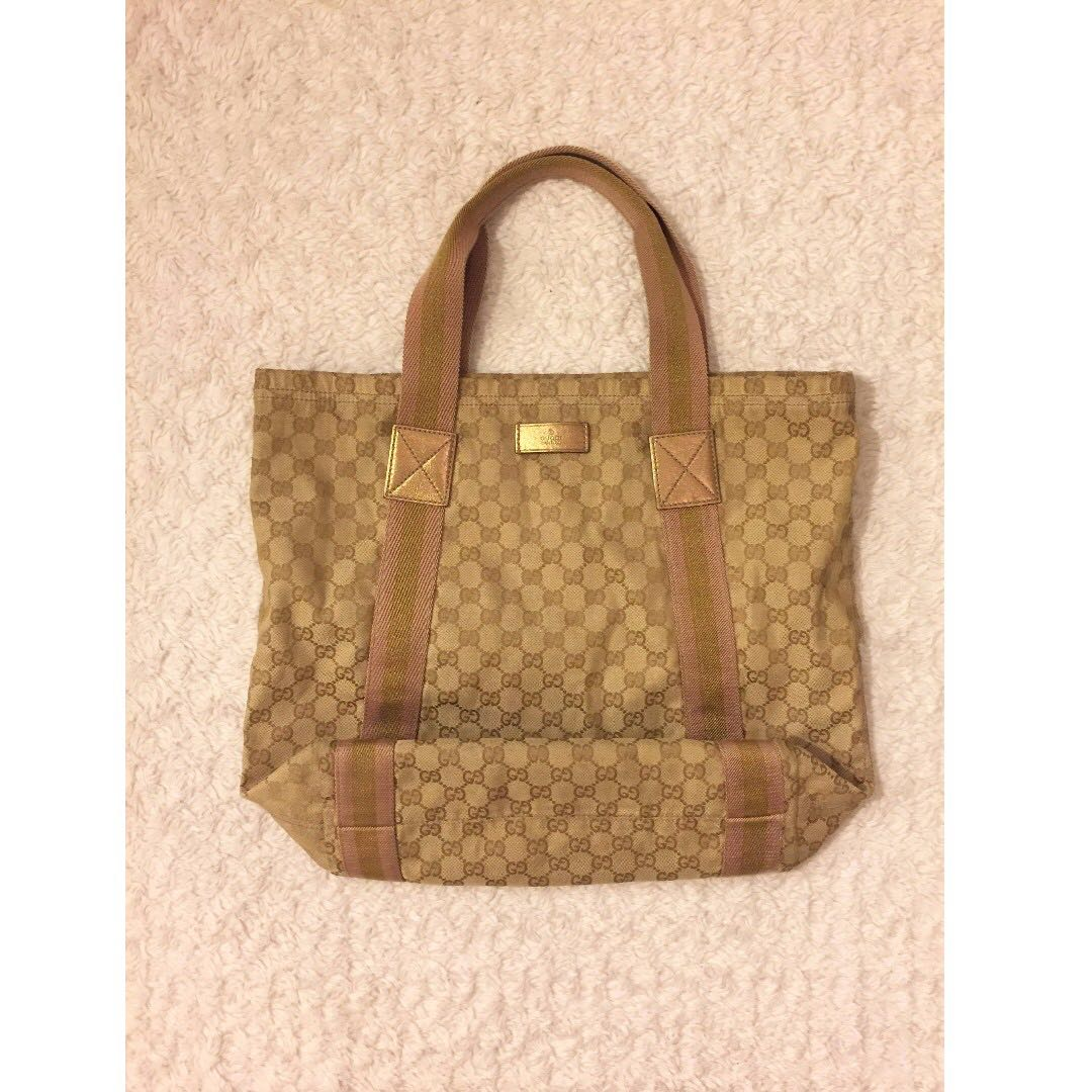 Gucci Canvas Tote Bag