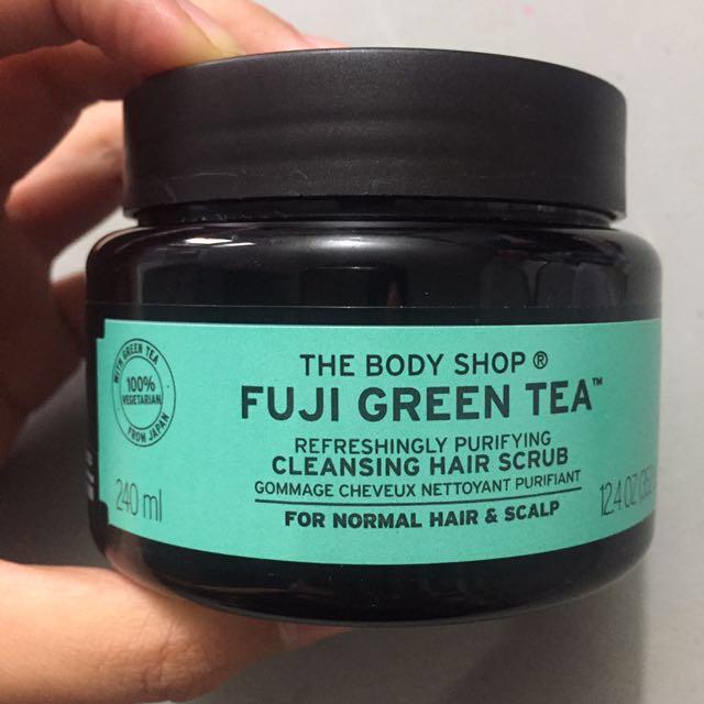 hair scrub fuji green tea