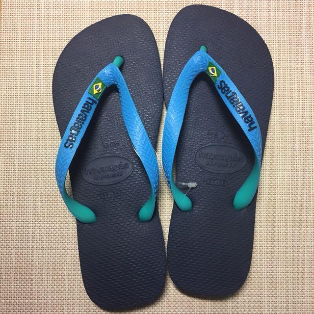 havaianas 哈瓦仕/brasil mix巴西小國旗 藍色雙色組合