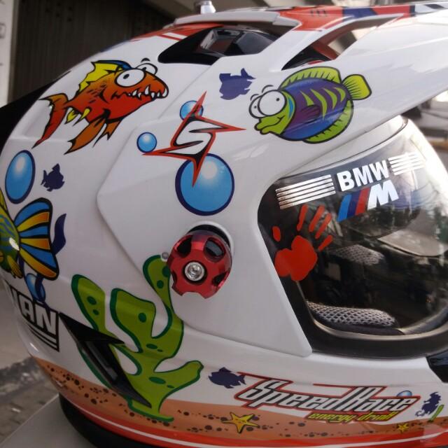 Helm repaint basic Mds cross direpaint jadi helm nolan Aquarium