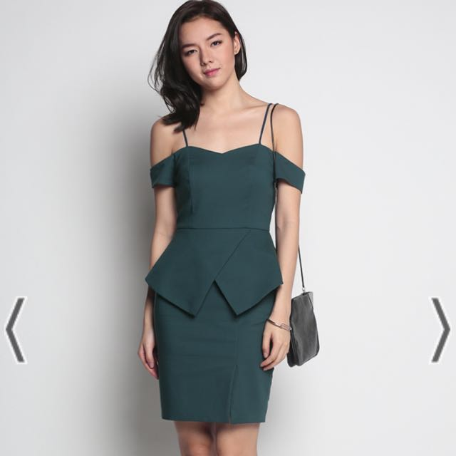 fcbe3ff923f Hevea peplum dress in forest love bonito womens fashion clothes dresses  skirts on carousell jpg 640x640