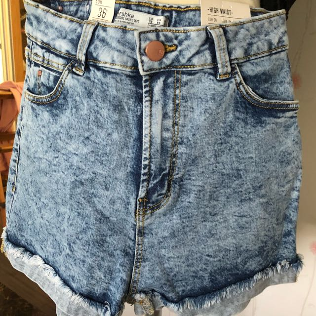 High Waist short jeans by Bershka