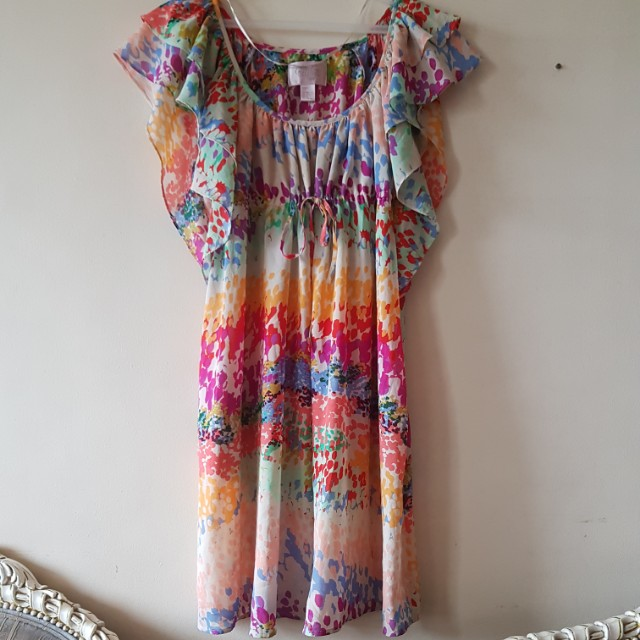 H&M floral see-through dress