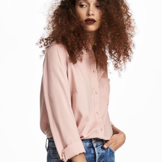H&M Viscose Shirt - Powder Pink