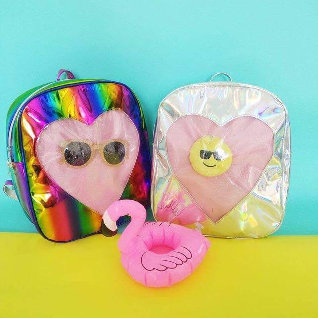 Hologram Heart Backpack