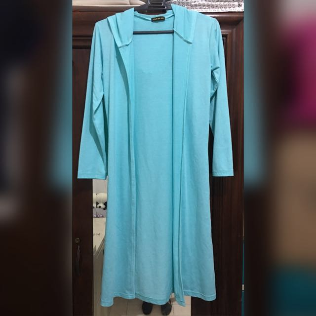 Hooded cardigan - sky blue