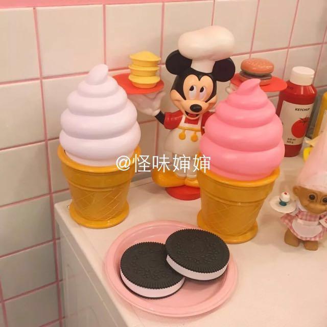 💯韓國ins熱門 少女 雪糕冰淇淋甜筒 創意 led裝飾燈