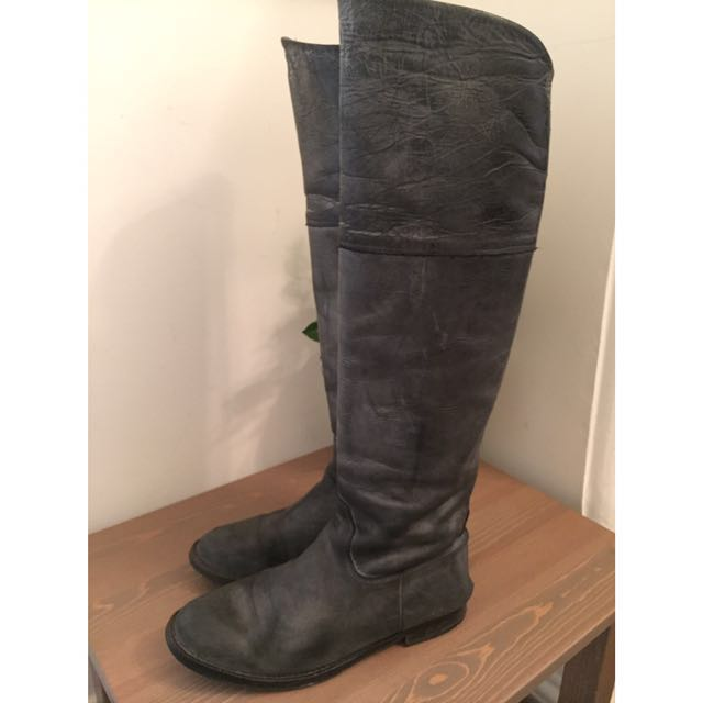 Knee Leather Boots D.co Copenhagen