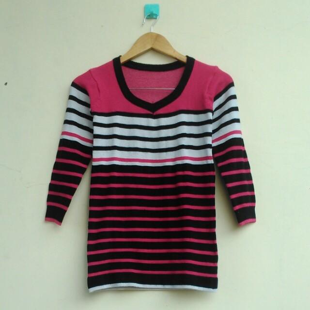Knit Stripe Sweater/Rajut Tebal