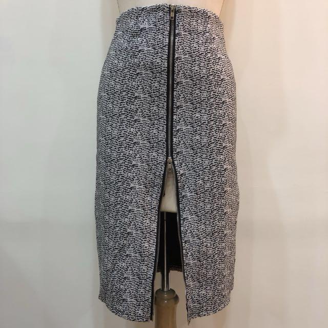 長窄裙毛尼拉鍊設計L號一件