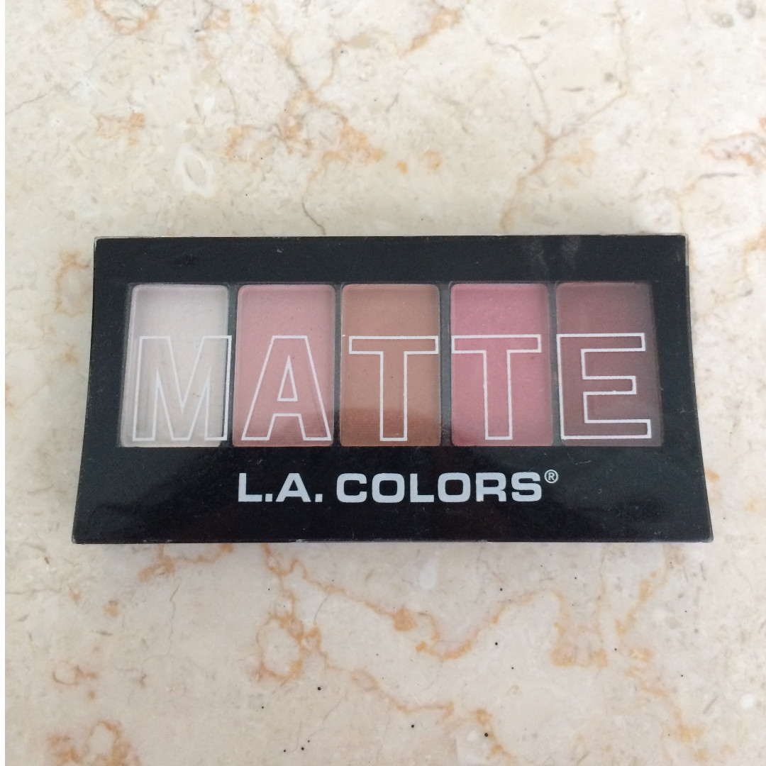 LA COLORS Matte Eyeshadow (Pink Chiffon)