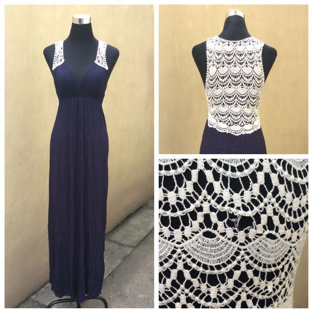 Laced Back Maxi Dress