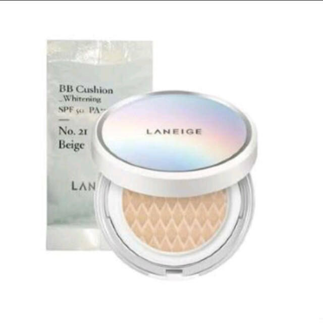 Laneige bb cushion whitening no.21 free gift