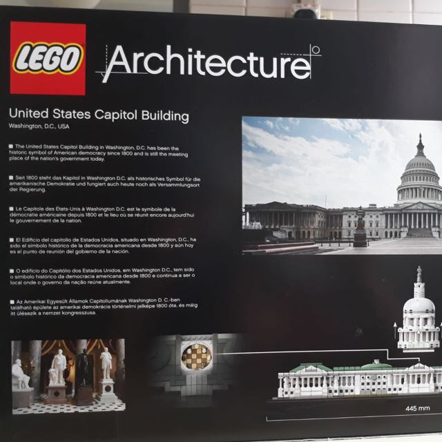 Lego Architecture United States Capitol Building Toys Games Others On Carousell