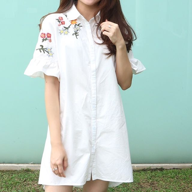 Little white embroidered dress