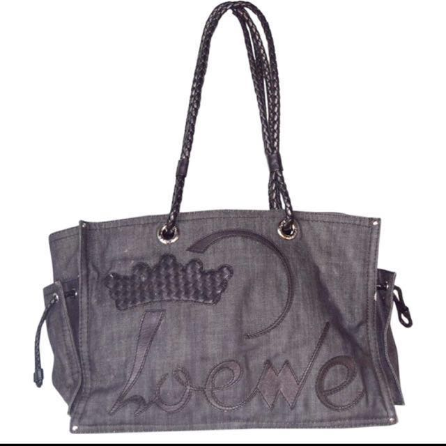 LOEWE Denim Tote Bag Authentic