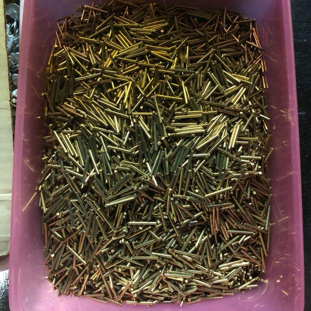 Logam kuningan biasa untuk bahan emas