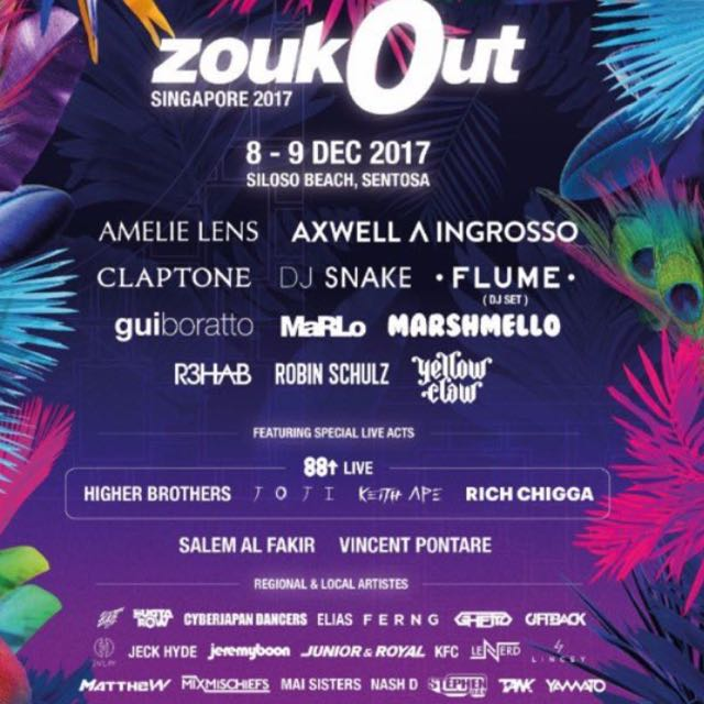 Looking for 2x ZoukOut tickets for day 2