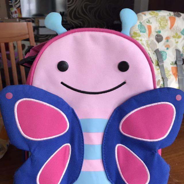 Lunch box bag skip hop buterfly
