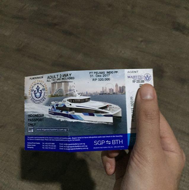 Majestic Ferry Ticket Batam Singapore On Carousell