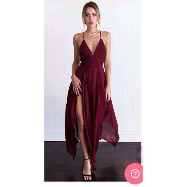 Maroon Maxi dress