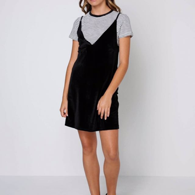 Minkpink velvet slip dress
