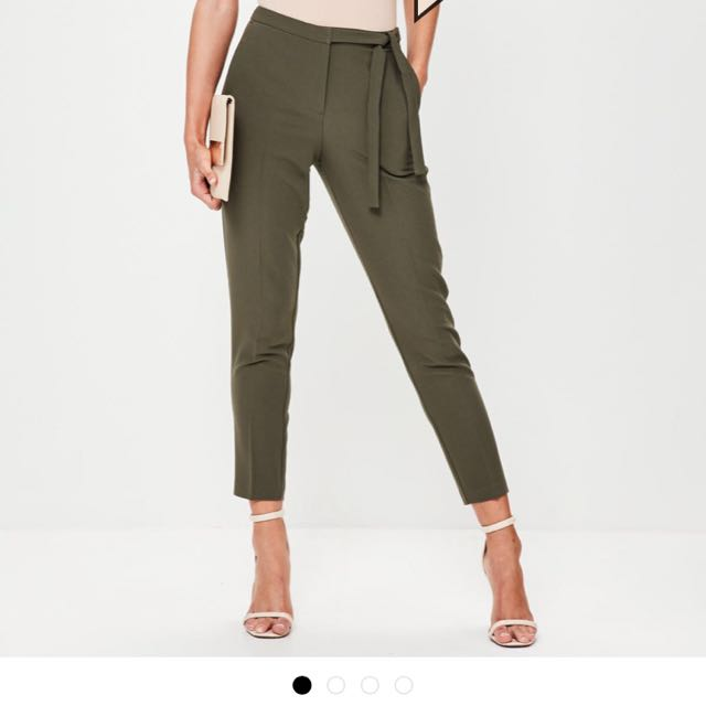 Missguided Green Trousers