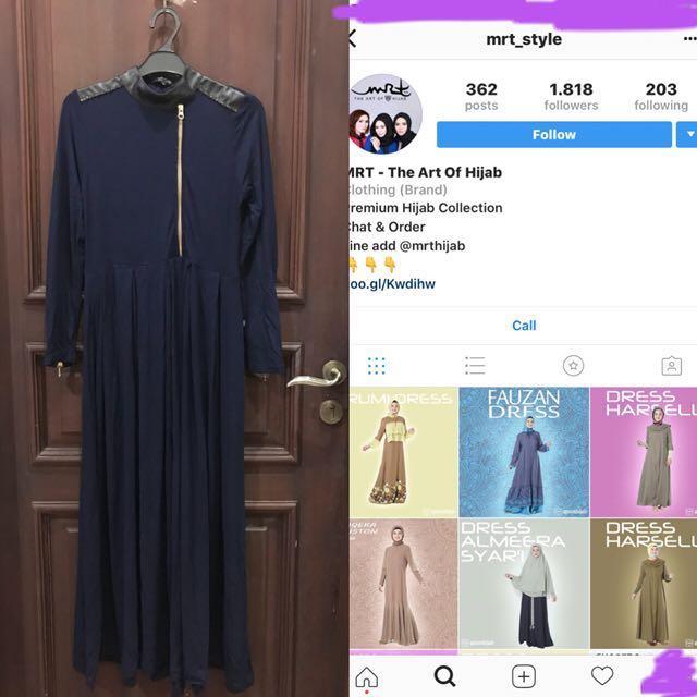 Navy dress mrt art of hijab