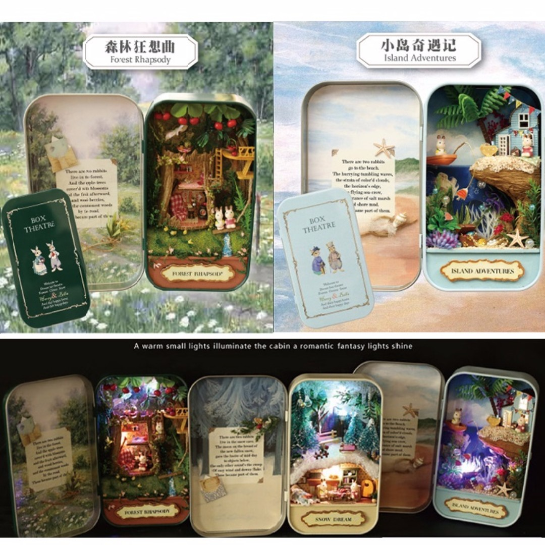 Clearance Promodiy Handmade Portable Tin Box Gift Miniature How To Build Can Cabin Diy Room Model House Mini Dollhouse Toys Games Others On Carousell