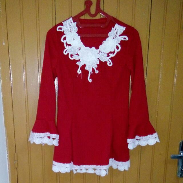 NEW!!! Blouse Lace Merah