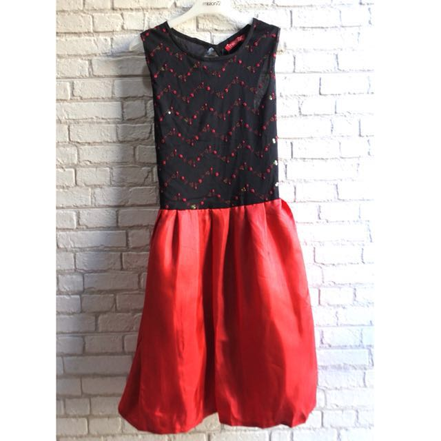[NEW] Dress Hitam Merah Theory X