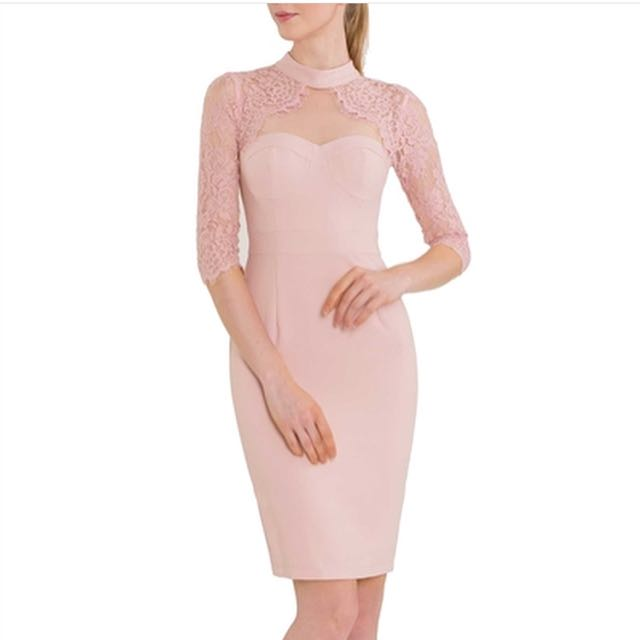 New soft pink lace dress