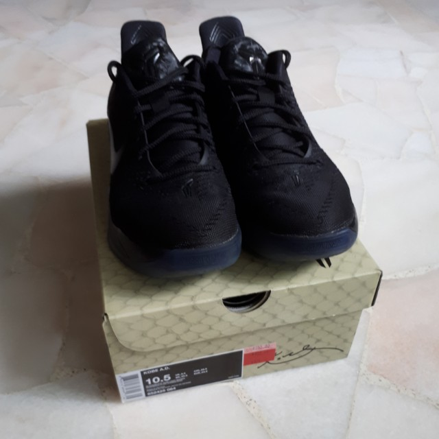 Nike Kobe A D Triple Black Colourway Sports Sports Games Equipment On Carousell