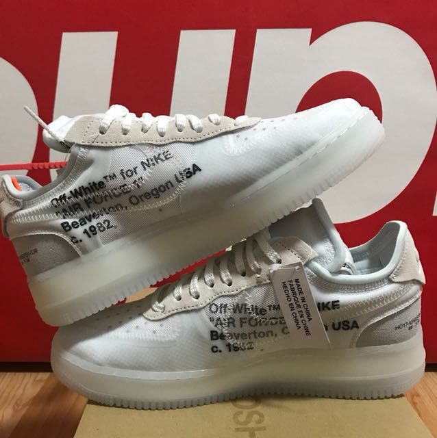 competitive price 0a35d 44ab3 Nike X Off White The Ten Air Force 1 Low US9, Men s Fashion, Footwear on  Carousell