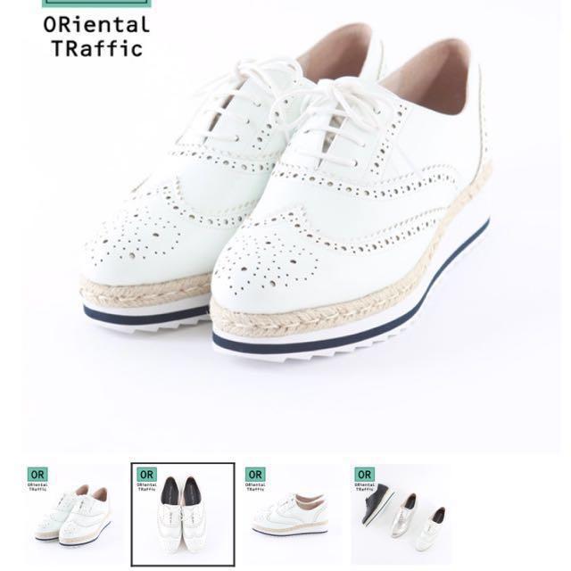 Oriental Traffic 英倫氣質雕花厚底鞋 S