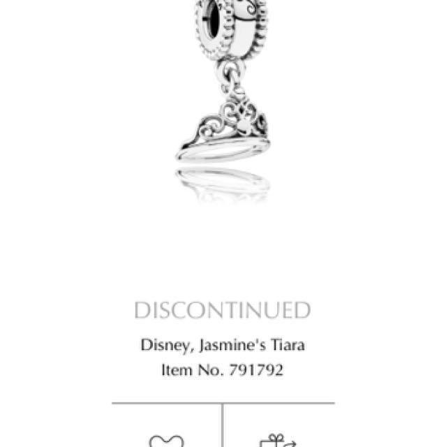 Pandora jasmines crown charm
