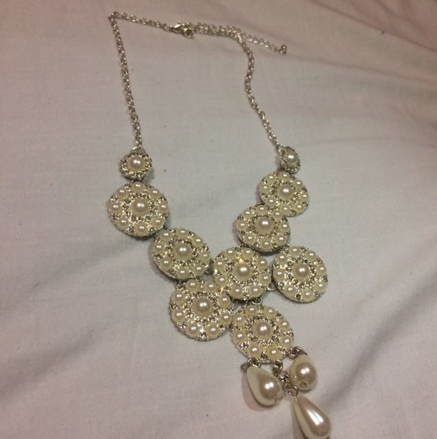 Pearl and Jewel Necklace