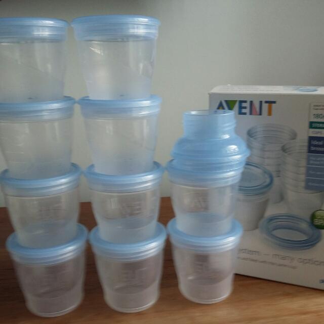 Philips Avent Milk Storage Bottles Babies Kids Nursing Feeding