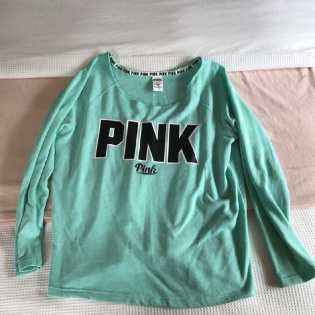 Pink crop hoodie