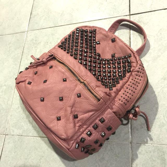 Pink studded bag (backpack)