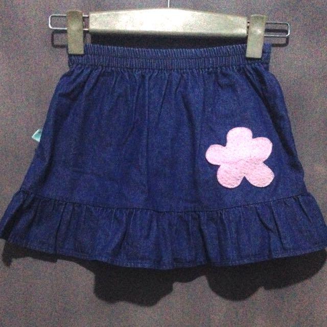 Preloved Denim Skirt for kids 2-3T