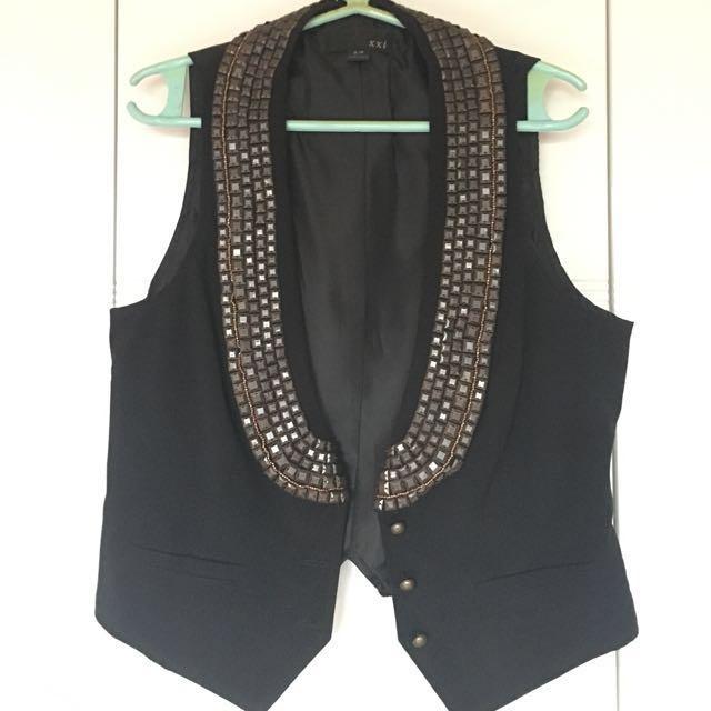 Preloved Forever21 Studded Black Vest