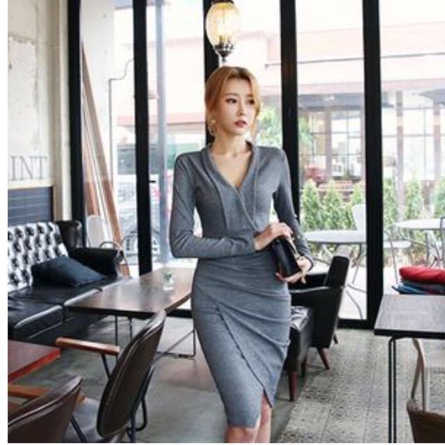 6f8a0a3971 Price Reduced ! Clearance ! Shirred Wrap dress from Dabagirl Korea ...