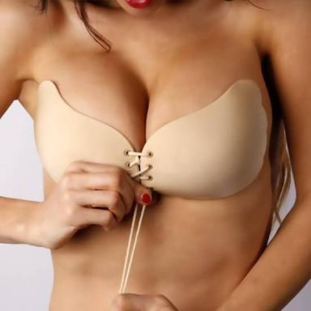 Push up stick on nude bra