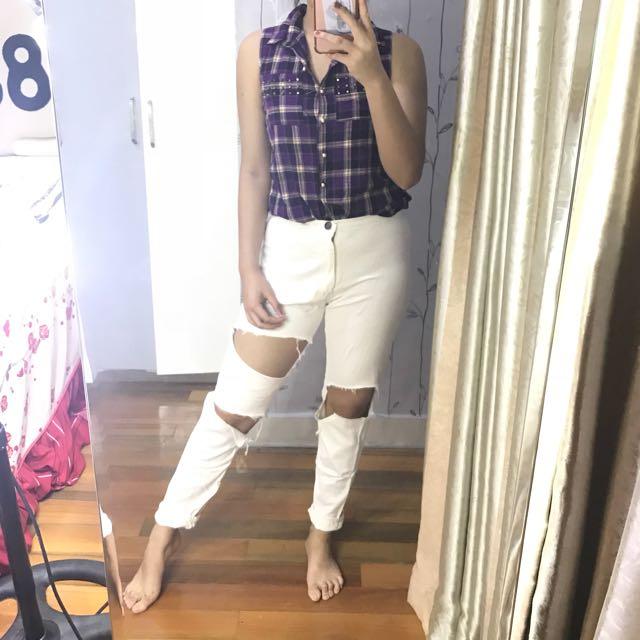 Renata Set (Top+ripped jeans)