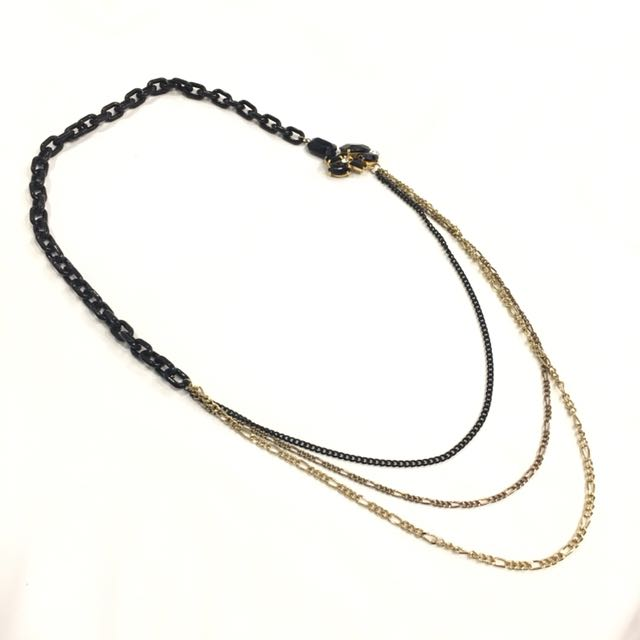 Rock chic chain metal necklace